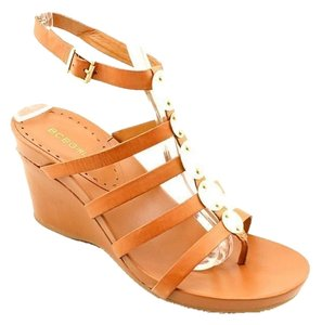 BCBGeneration Ankle Strap Wedge Brown Wedges