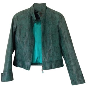 Steve Madden Leather Turquoise Leather Jacket