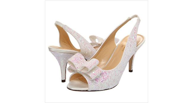 Item - Ivory Multi/ Glitter Sawyer Pumps Size US 8.5