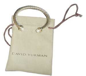 David Yurman David Yurman - Classic Cable Bracelet with Pearl & 14K gold - 7MM LIKE NEW Sixe Medium