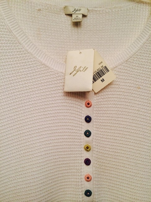 Preload https://item2.tradesy.com/images/j-jill-ivory-henley-w-special-buttons-tee-shirt-size-12-l-542831-0-0.jpg?width=400&height=650
