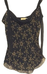 Max Studio Silk Special Edition Career Casual Sheer Top Black, Tan