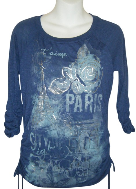 Preload https://img-static.tradesy.com/item/543262/style-and-co-blue-ps-nwot-company-silver-foil-graphics-paris-blouse-size-petite-6-s-0-0-650-650.jpg