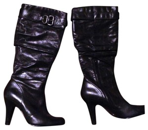 Aldo Leather Knee Length Black Boots