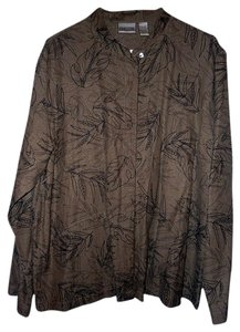 Chico's Top Beige and black