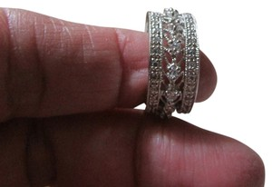 jc penny collection STERLING WIDE CZ OPENWORK BAND - BRAND NEW !