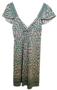 BCBGMAXAZRIA short dress Turquoise Floral Spring Summer Leaf on Tradesy