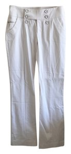 bebe Boot Cut Pants White