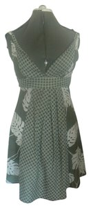 Mystic short dress Green & White Umpire Tie Back on Tradesy