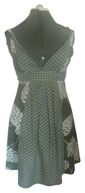Mystic short dress Green & White Umpire Tie Back And Leaves & Circles on Tradesy