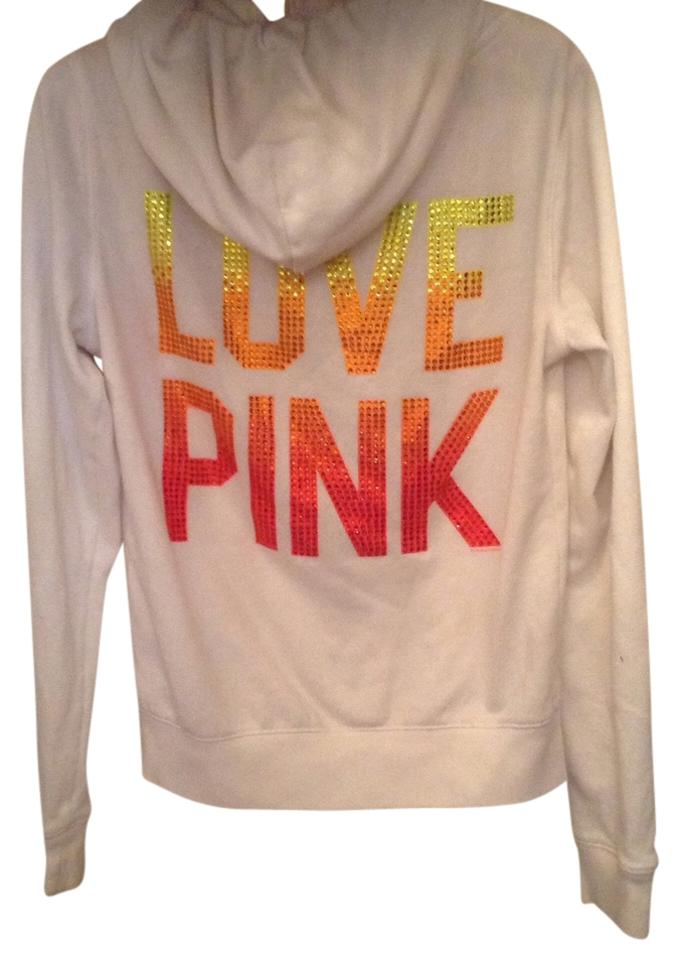 403139e9 PINK Bling Hoody Victorias Secret Zip Up Dip Dye Love Victoria's Secret  Studded Sequins Small Victorias ...