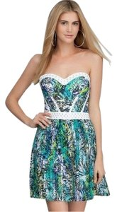 bebe short dress Studded Floral Bustier Corset on Tradesy
