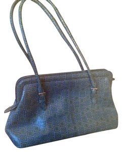 Wilsons Leather Satchel in Green and blue