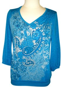 Style & Co Top BLUE GREEN