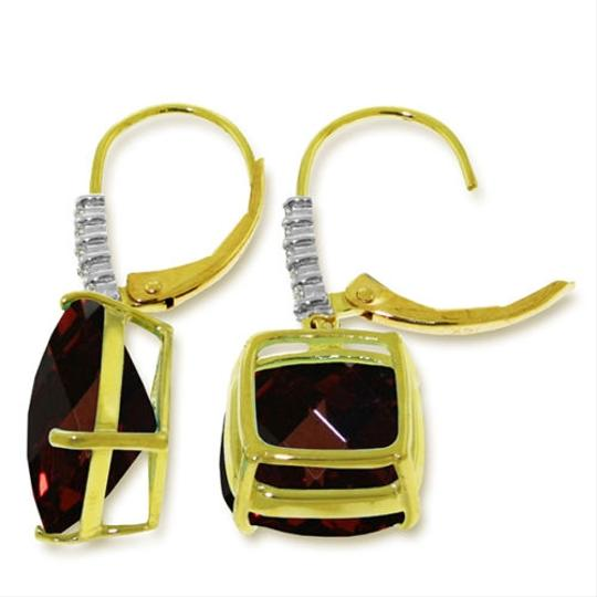 Other 9.15 CTW 14k Yellow Gold Red Garnet and Diamond Earrings