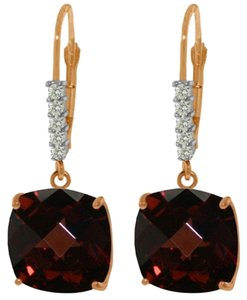 Other 9.15 CTW 14k Rose Gold Red Garnet and Diamond Earrings