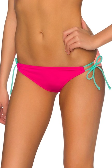 B. Swim PUNCHY PUCKER UP BUTTERCUP TIE SIDE BIKINI BOTTOM L53 Size Medium NWT