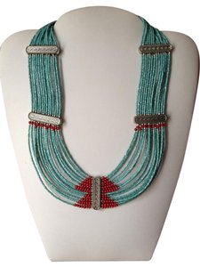 Free People Aztec Seed Bead Collar Necklace