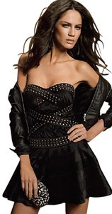 bebe Studded Bustier Mini Embellished Dress