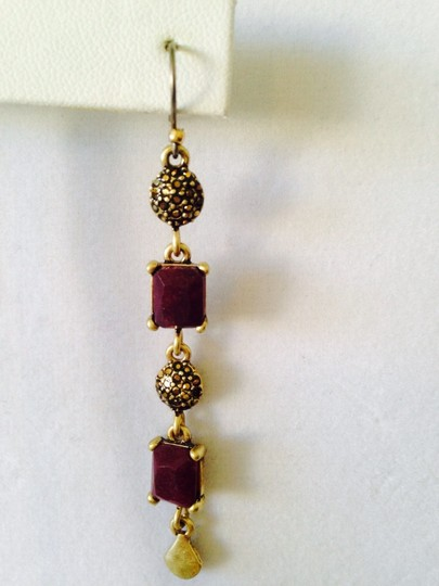 Lucky Brand Lucky Brand Red Jade Gold-Tone Earrings Only! Matching Pieces Sold Seperately
