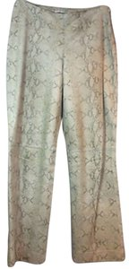 Nine West Animal Print Straight Pants BEIGE
