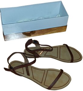 Matiko New Box 7.5 7 1/2 Alicia Leather BROWN Sandals