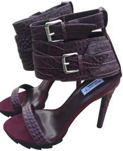 Steve Madden Heels Leather Opentoe Wine Sandals