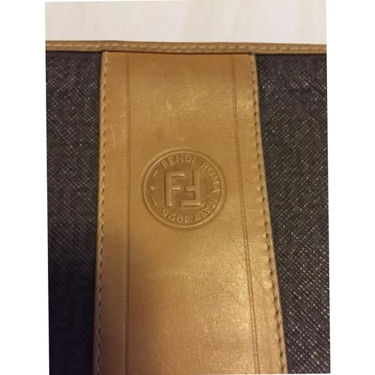 Fendi Tan/gray Clutch