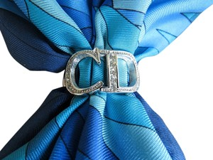 Dior Dior Ring for Scarf, Silver with Rhinestones