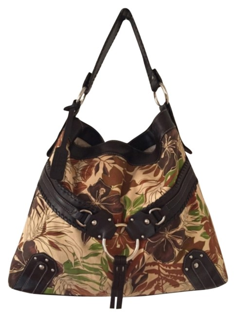 a.n.a. a new approach Floral Brown Man Made Shoulder Bag a.n.a. a new approach Floral Brown Man Made Shoulder Bag Image 1