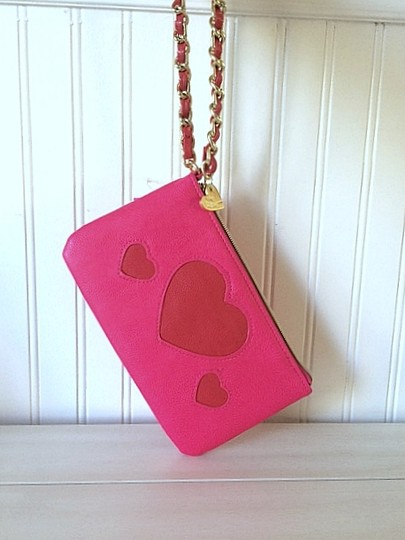 Betsey Johnson Man-made Material Small Cosmetic Wristlet in Pink