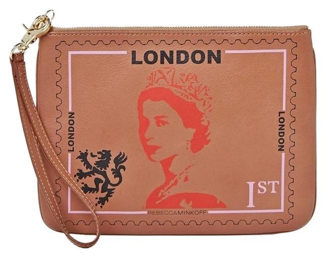 Item - Clutch New *collector's Item* London Travel Pouch Taupe Leather Wristlet