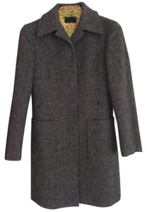 Dolce&Gabbana Dolce & Gabbana A-line Long Sleeve Button Closure Wool Tweed Lining Silk Lining Pea Coat
