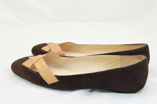 Givenchy Leather Luxe Rare Dark Brown/Camel Flats