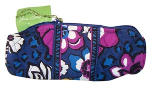 Vera Bradley NWT VERA BRADLEY On a Roll Case Pen Pencil Coin Cosmetic Bag African Violet Purple Blue