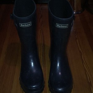 Barbour Navy Boots