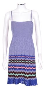 M Missoni short dress M Blue Zig Zag Sleeveless Knit on Tradesy