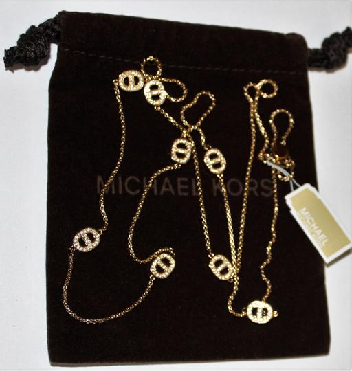 Michael Kors 60% OFF! BRAND NEW GOLD Crystal Maritime Link Station Necklace