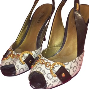 Guess By Marciano Brown gold Pumps