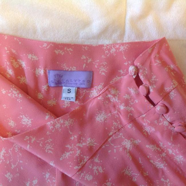 Calypso Skirt Pink/coral and white