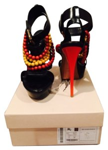 Burberry Black with orange/yellow beads Platforms