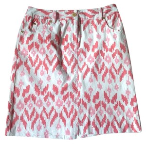 J.McLaughlin Mini Skirt Pink and white