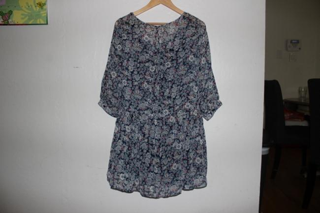 Eyeshadow short dress Floral Print Above Knee Floral Fall Blue on Tradesy