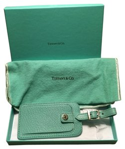 Tiffany & Co. Tiffany's Light Teal Textured Luggage Tag