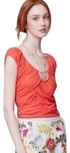 Anthropologie Deletta Wynwood Top Orange