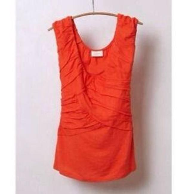 Anthropologie Deletta Wynwood Crisscross Top Orange
