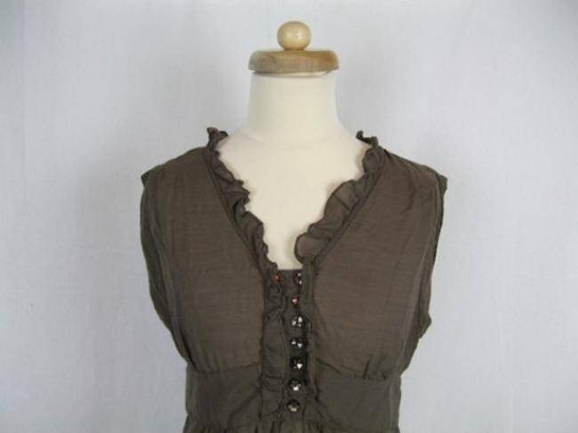 Anthropologie Odille Ruffled Top Brown