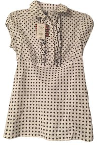 Other Polka Dot Fun Top White and Black