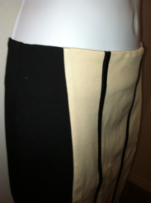 bebe Sexy Tan And Two Toned Skirt beige & black