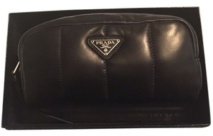 Prada Prada leather tessuto bomber cosmetic bag